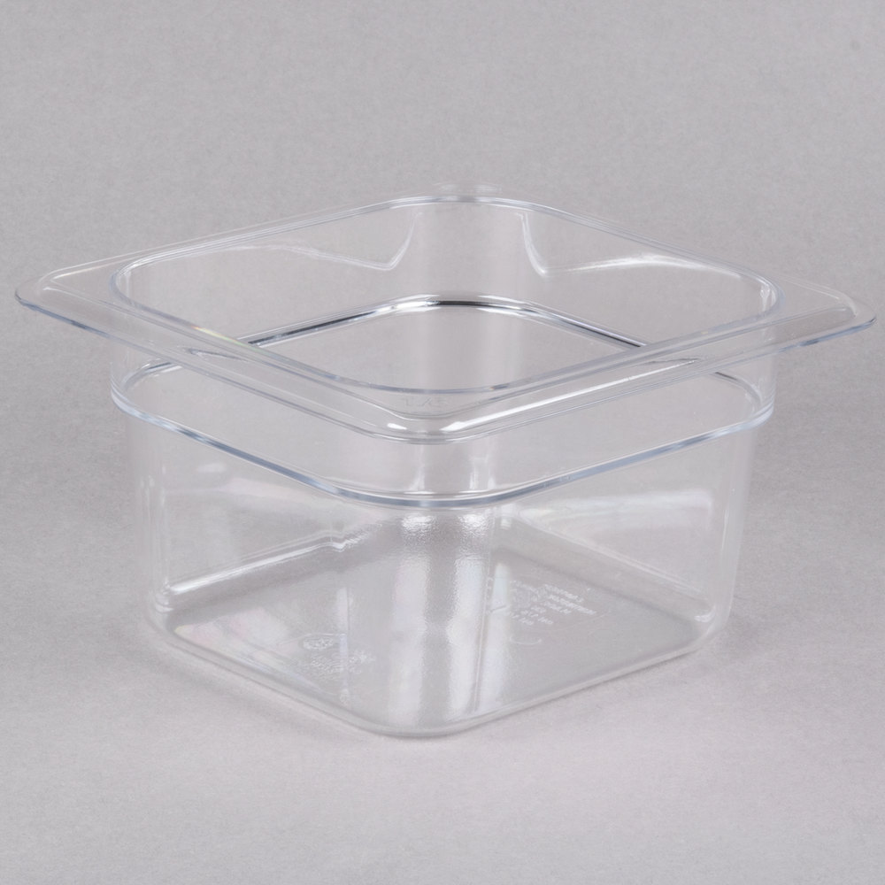 4 pack Cambro polycarbonate gastronorm pan lid with notch 1//3-4 pack