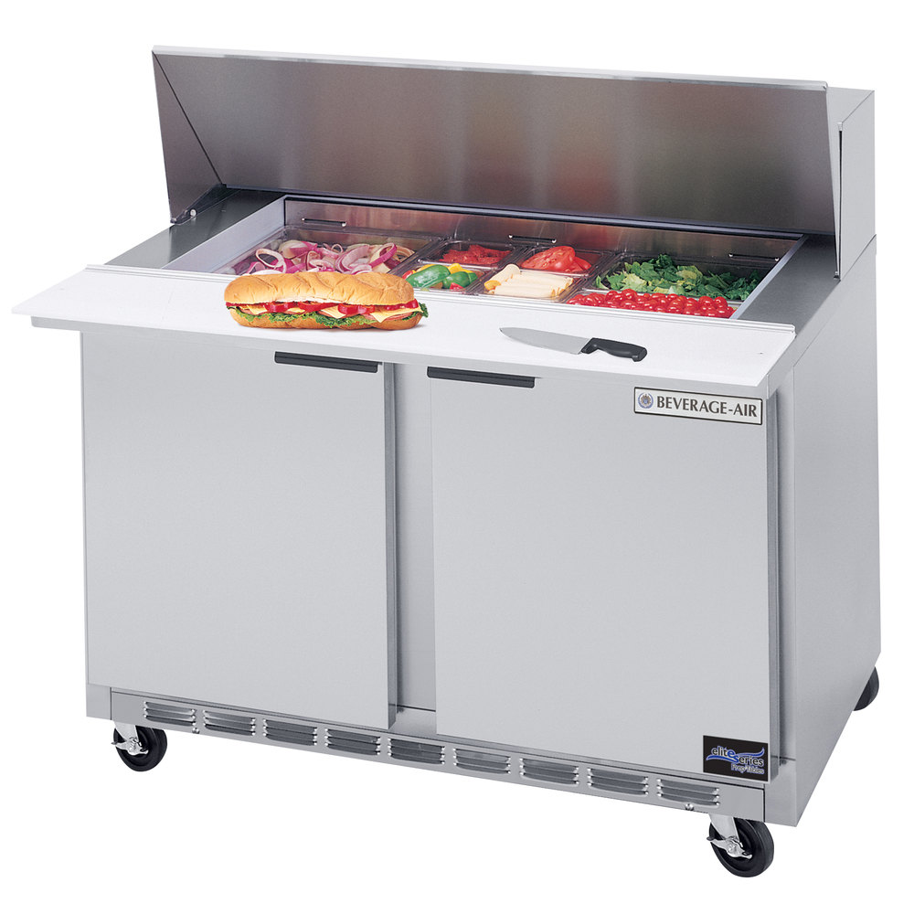 "Beverage Air SPE48-12 48"" Refrigerated Salad / Sandwich Prep Table"