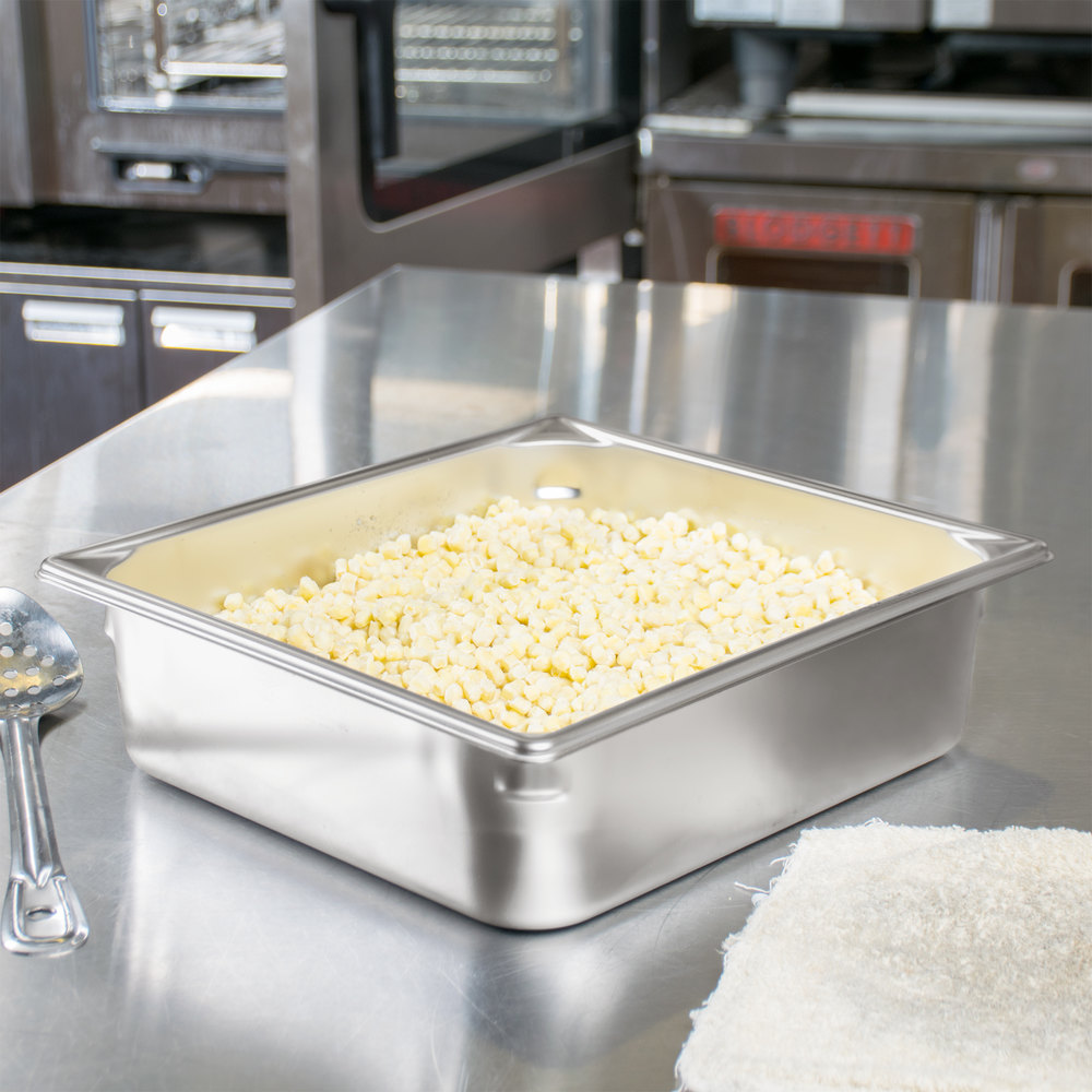 "Vollrath 90142 Super Pan 3® 2/3 Size Anti-Jam Stainless Steel Steam Table / Hotel Pan - 4"" Deep"