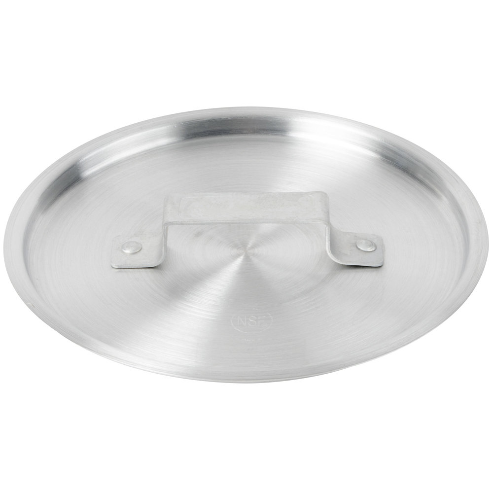 "9"" Aluminum Pot / Pan Cover for 3.75 Qt. Tapered Sauce Pan and 8 Qt. Aluminum Stockpot"