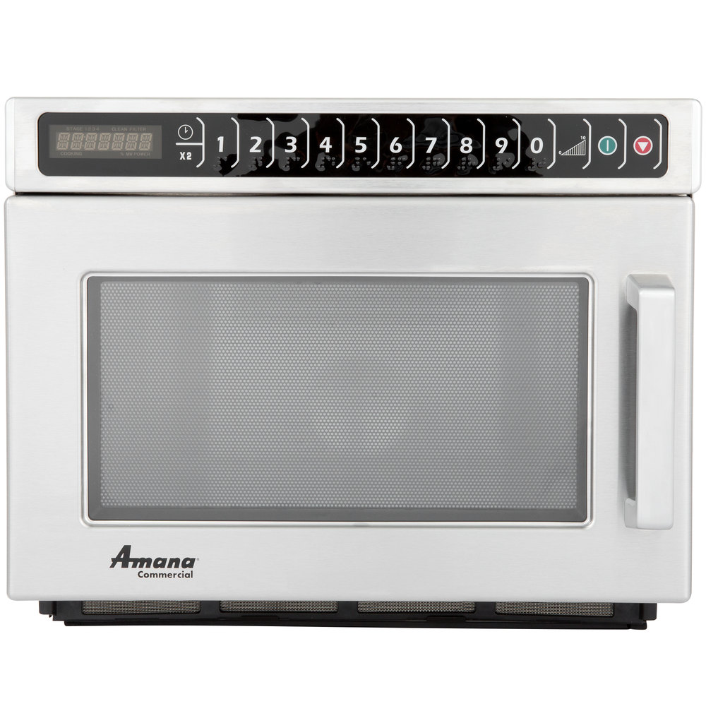 Amana Hdc212 Heavy Duty Stainless Steel Commercial Microwave 208