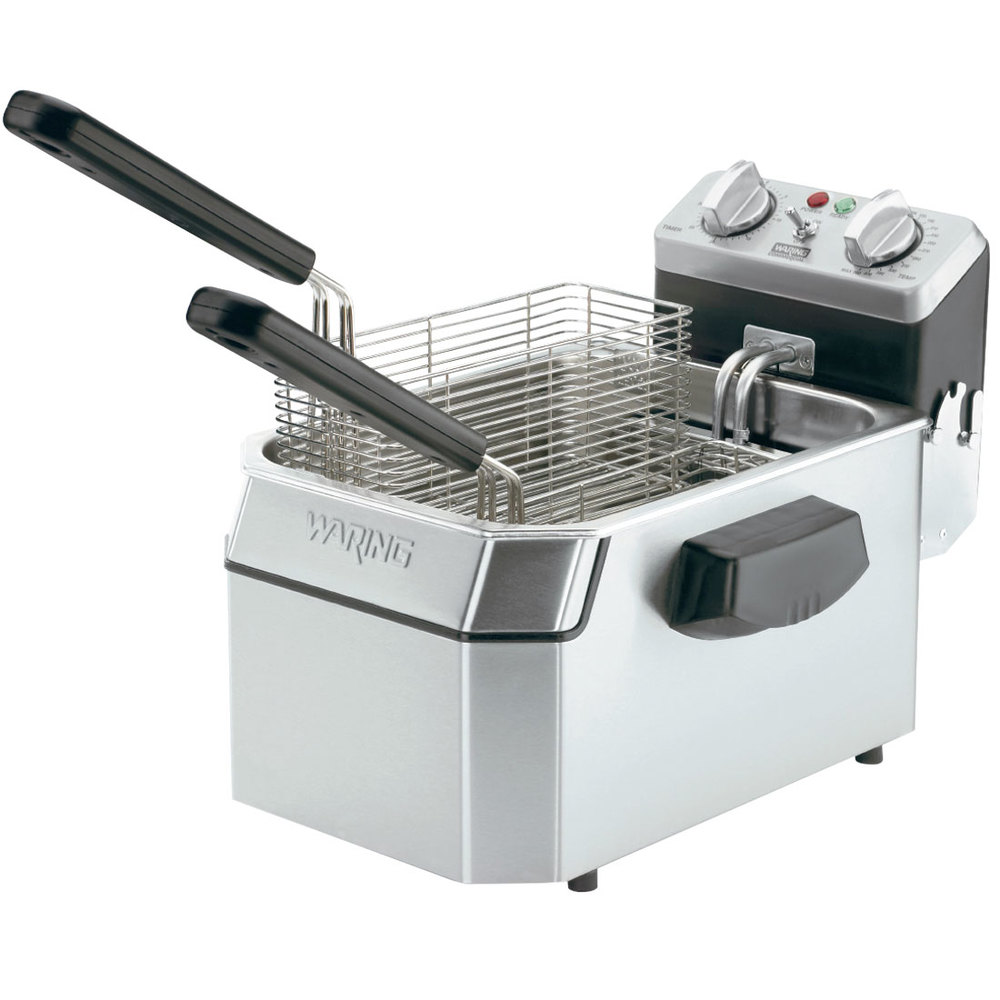 Countertop Deep Fryer : Waring WDF1000B 10 lb. Commercial Countertop Deep Fryer - 208V