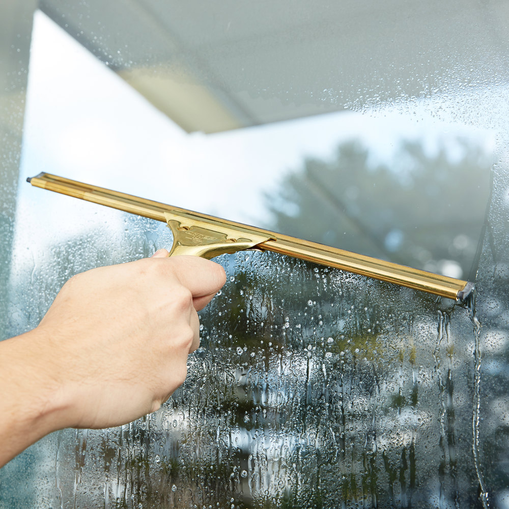 Unger Gs350 Goldenclip Complete Brass 14 Quot Window Squeegee