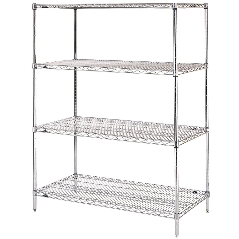 "Metro EZ2460NC-4 Super Erecta Chrome Convenience Pak - 24"" x 60"""