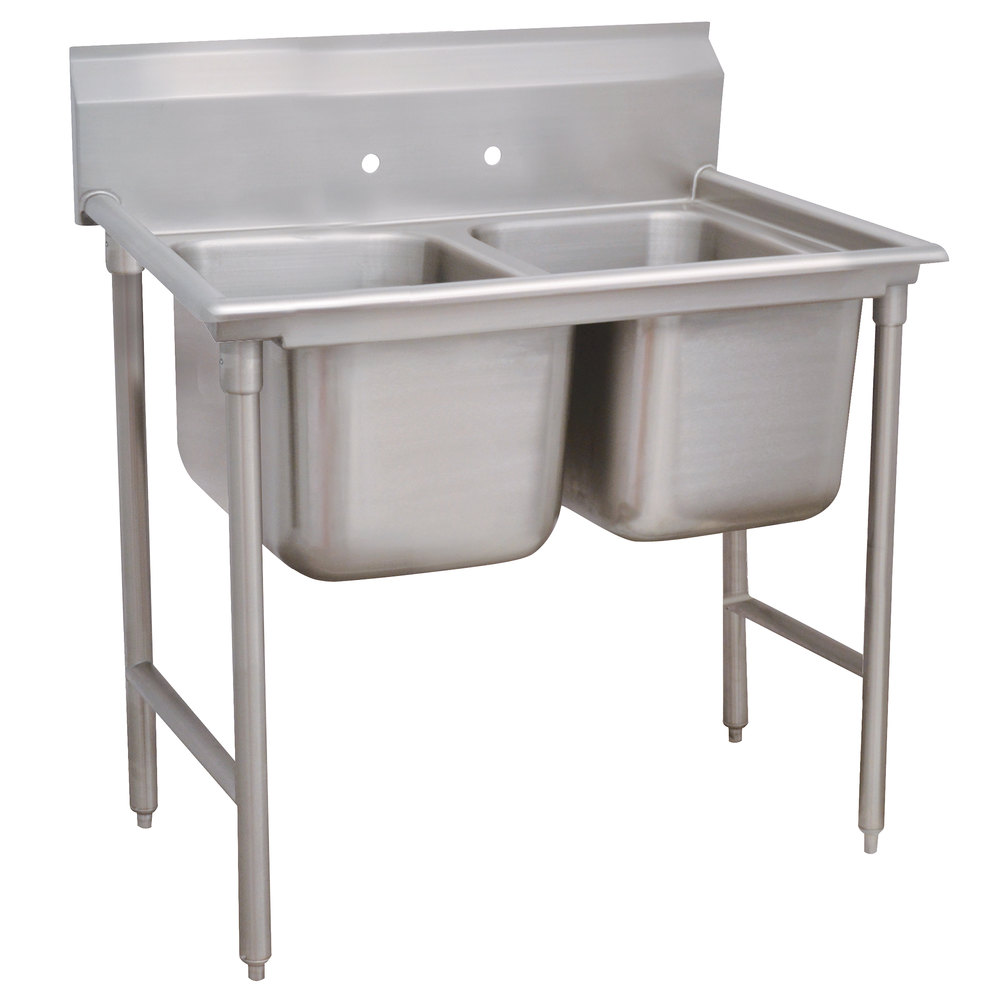 Advance Tabco 93-2-36 Regaline Two Compartment Stainless Steel Sink - 44""