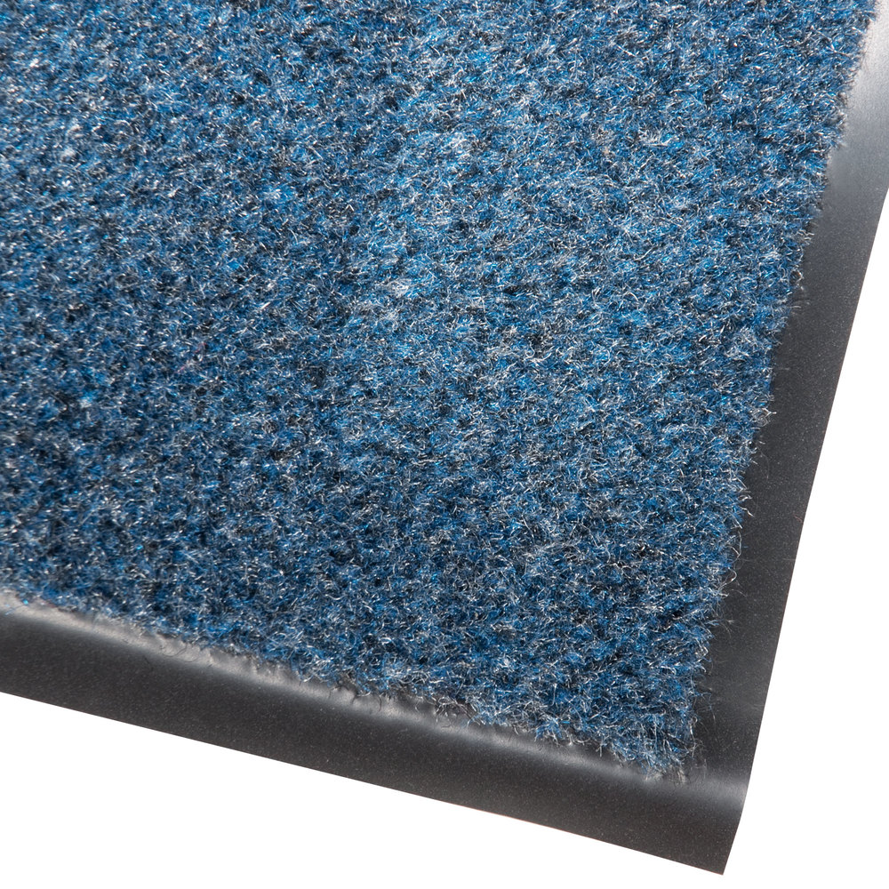 "Cactus Mat 1437M-U35 Catalina Standard-Duty 3' x 5' Blue Olefin Carpet Entrance Floor Mat - 5/16"" Thick"