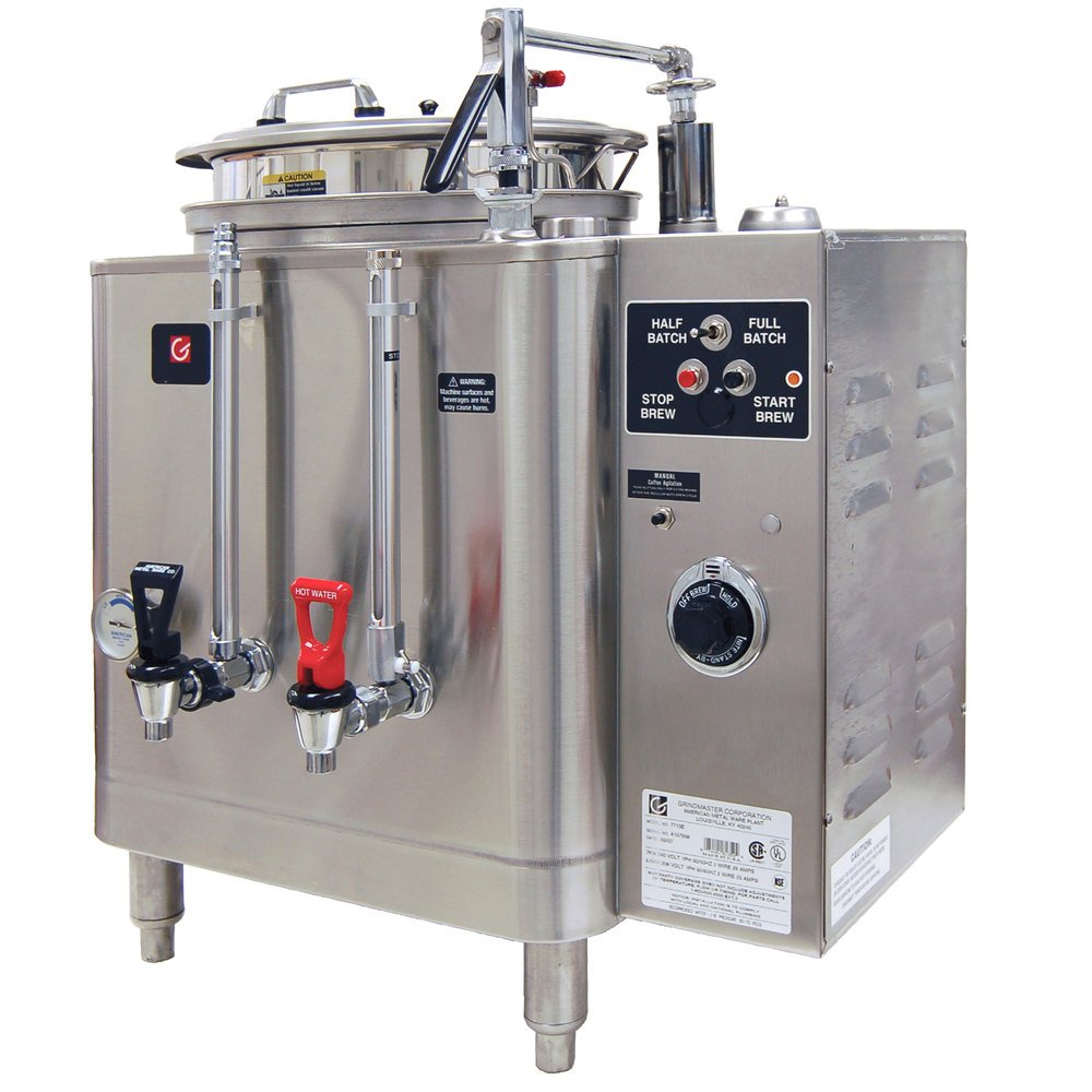 Grindmaster 7416E Single Midline 6 Gallon Fresh Water Coffee Urn - 120/208/240V 1 Phase