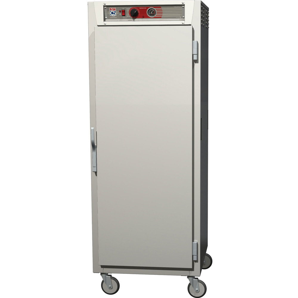 Metro C569-SFS-UPFC C5 6 Series Full Height Reach-In Pass-Through Heated Holding Cabinet - Solid / Clear Doors