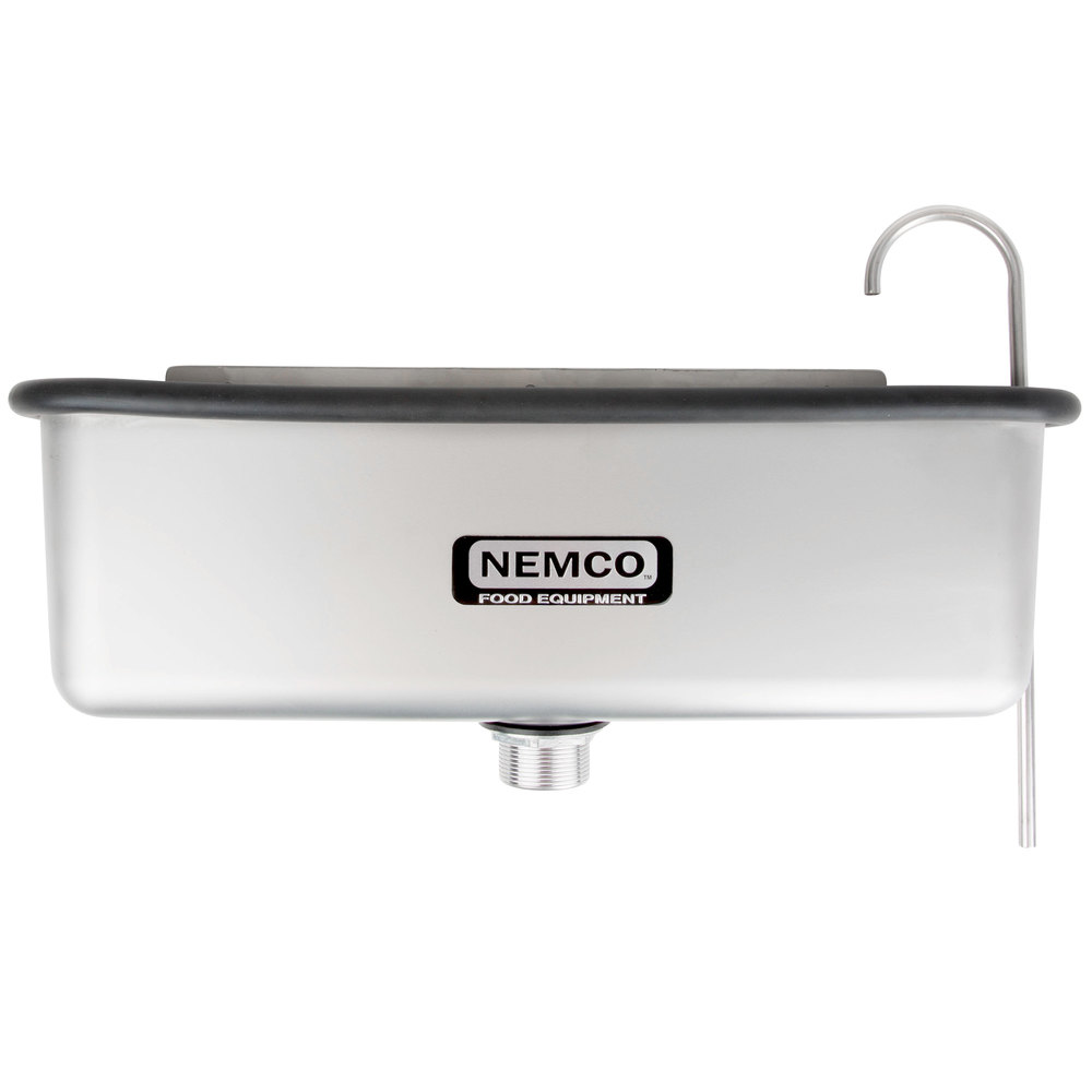 "Nemco 77316-19 20 5/8"" Ice Cream Dipper Well and Faucet Set"