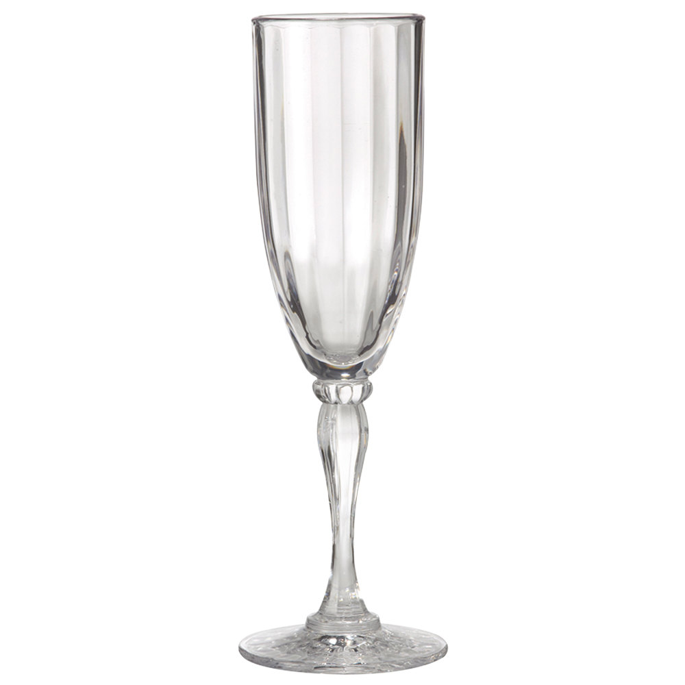 GET SW-1420 (SW1420) SAN Plastic 6 oz. Fluted Champagne Glass 24/Case