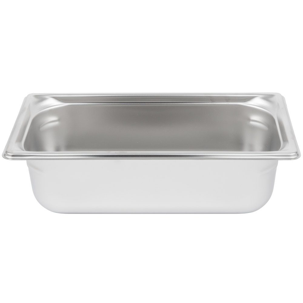 "Vollrath 90342 Super Pan 3® 1/3 Size Anti-Jam Stainless Steel Steam Table Pan - 4"" Deep"