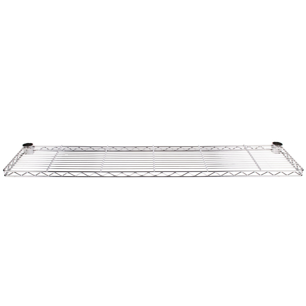 "Metro 1260CHC 60"" Chrome Plated Cantilever Overhead Shelf"