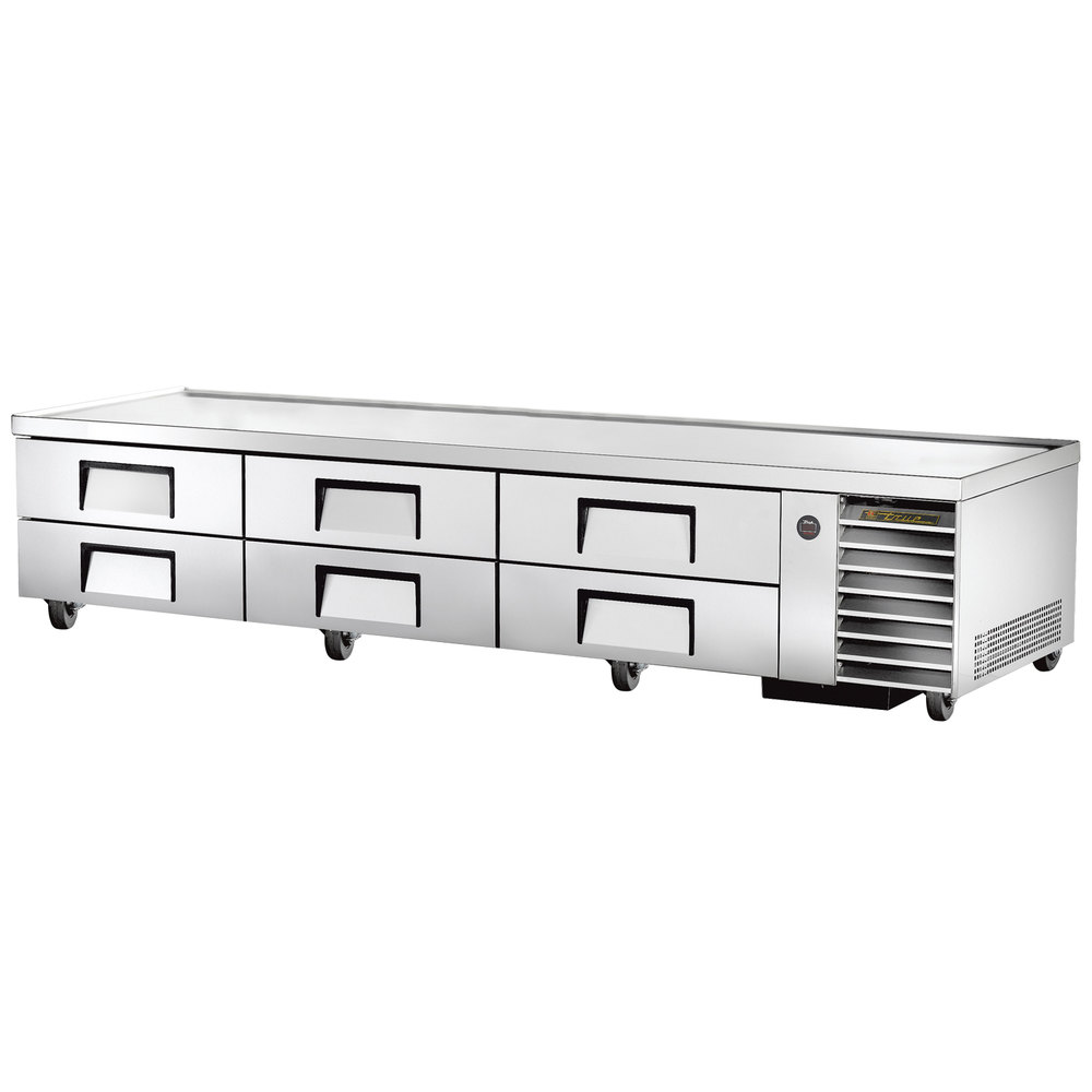 "True TRCB-110 110"" Six Drawer Refrigerated Chef Base"