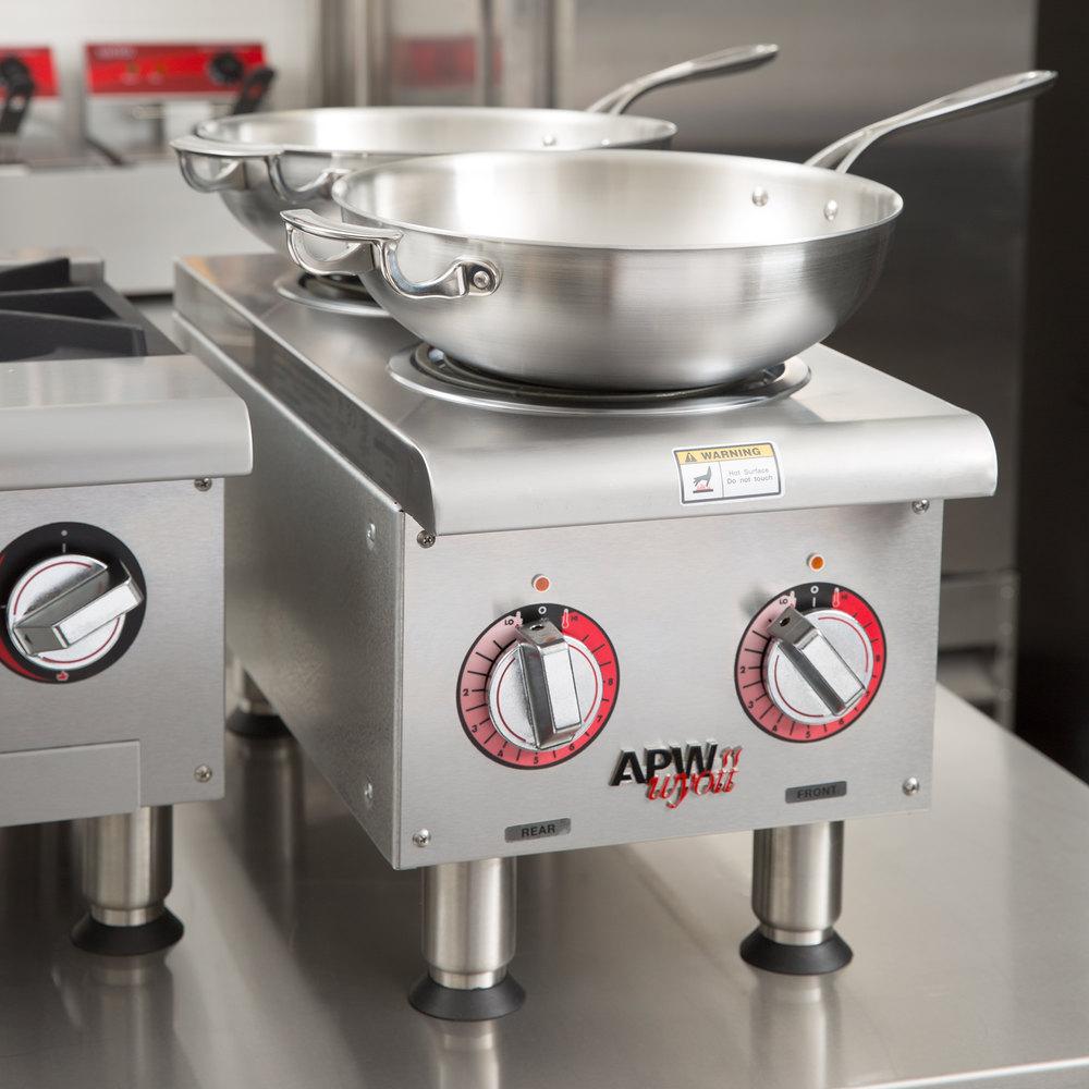 208V APW Wyott EHPi Dual Burner Countertop Electric Range