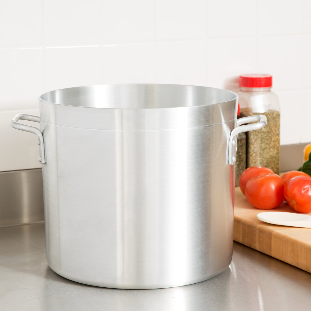 20 Qt. Standard Weight Aluminum Stock Pot