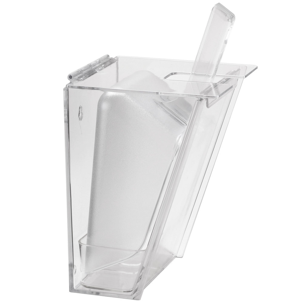 Cal Mil 793 Wall Mount Scoop Holder With 2 Qt Scoop And