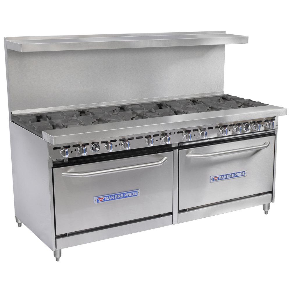 Restaurant Kitchen Gas Stove bakers pride restaurant series 72-bp-12b-s30 natural gas 12 burner