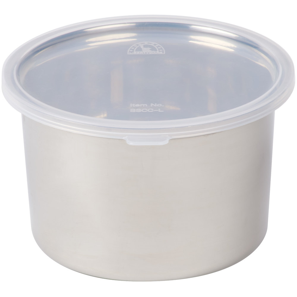 Stainless steel storage containers for kitchen - 1 5 Qt Stainless Steel Food Storage Container With Snap On Plastic Lid Main Picture