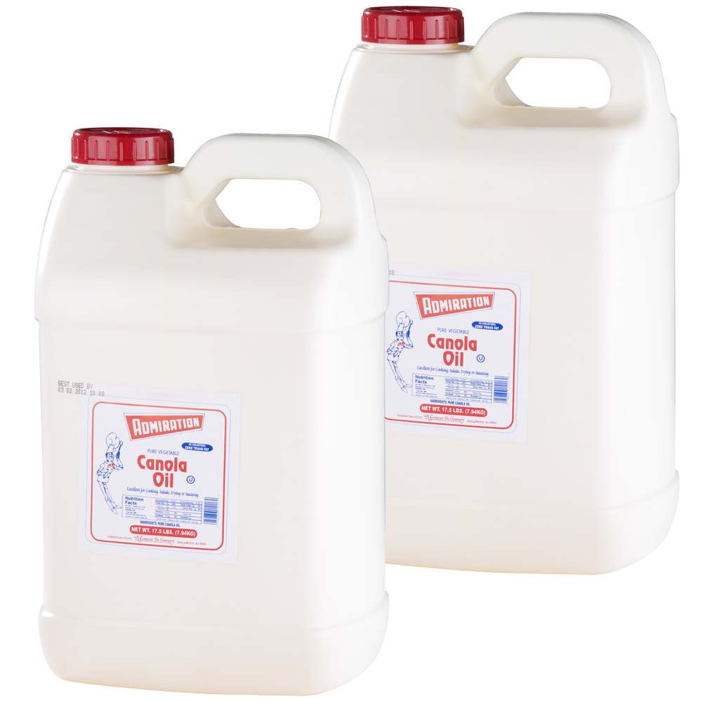 Admiration Canola Oil - (2) 17.5 lb. Containers / Case