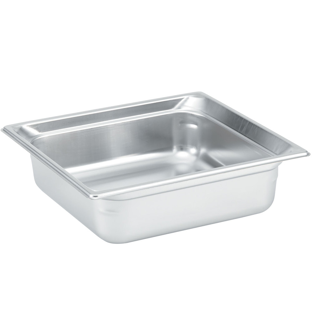 "Vollrath 90112 Super Pan 3® 2/3 Size Anti-Jam Stainless Steel Steam Table Pan - 1 1/2"" Deep"