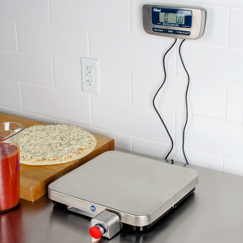 Edlund EPZ-20F 20 lb. Stainless Steel Digital Pizza Scale with Front Tare