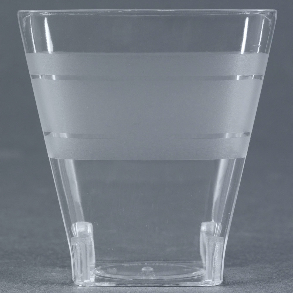 Fineline Wavetrends 1102 Clear Plastic Shot Glass 2 oz. - 432/Case