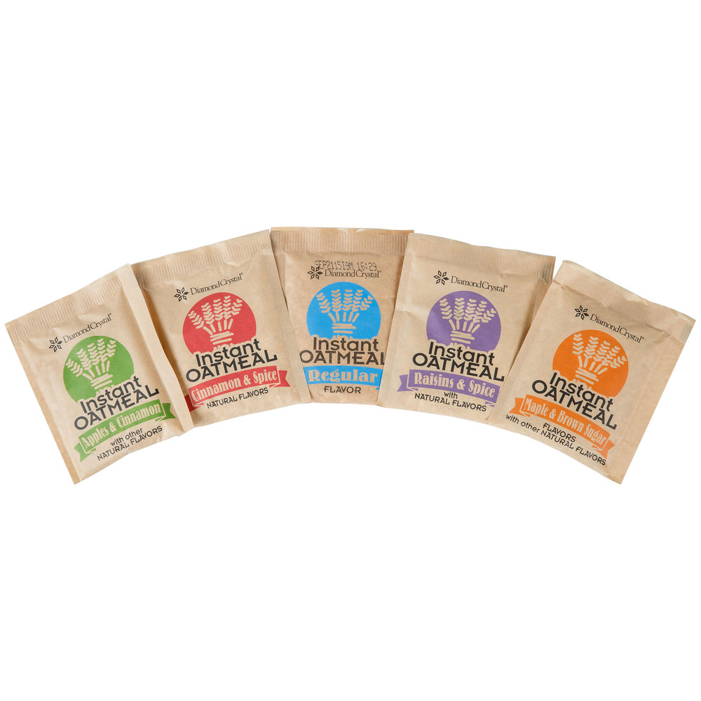 Single Serve 1 oz. Packet Instant Oatmeal Variety Pack - 40/Box