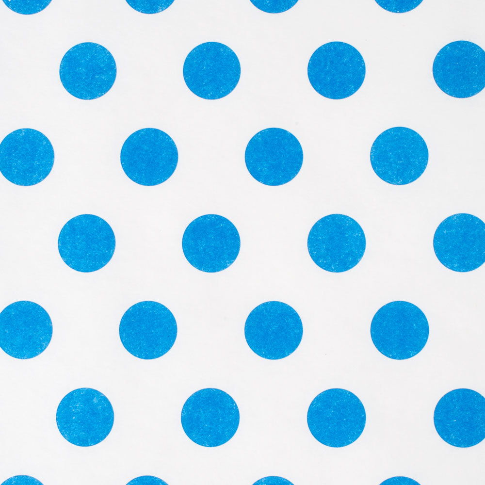 40 Quot X 100 60 Paper Roll Table Cover With Blue Polka Dots