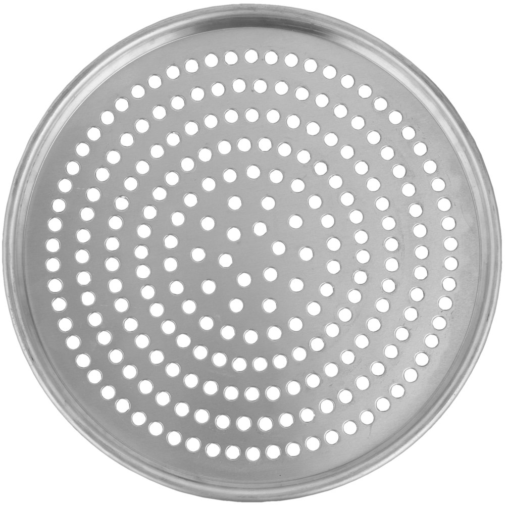 "American Metalcraft HA2006SP 6"" Super Perforated Tapered Pizza Pan - Heavy Weight Aluminum"