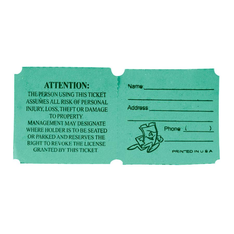 Green 50/50 Marquee Raffle Tickets - 1000 / Roll