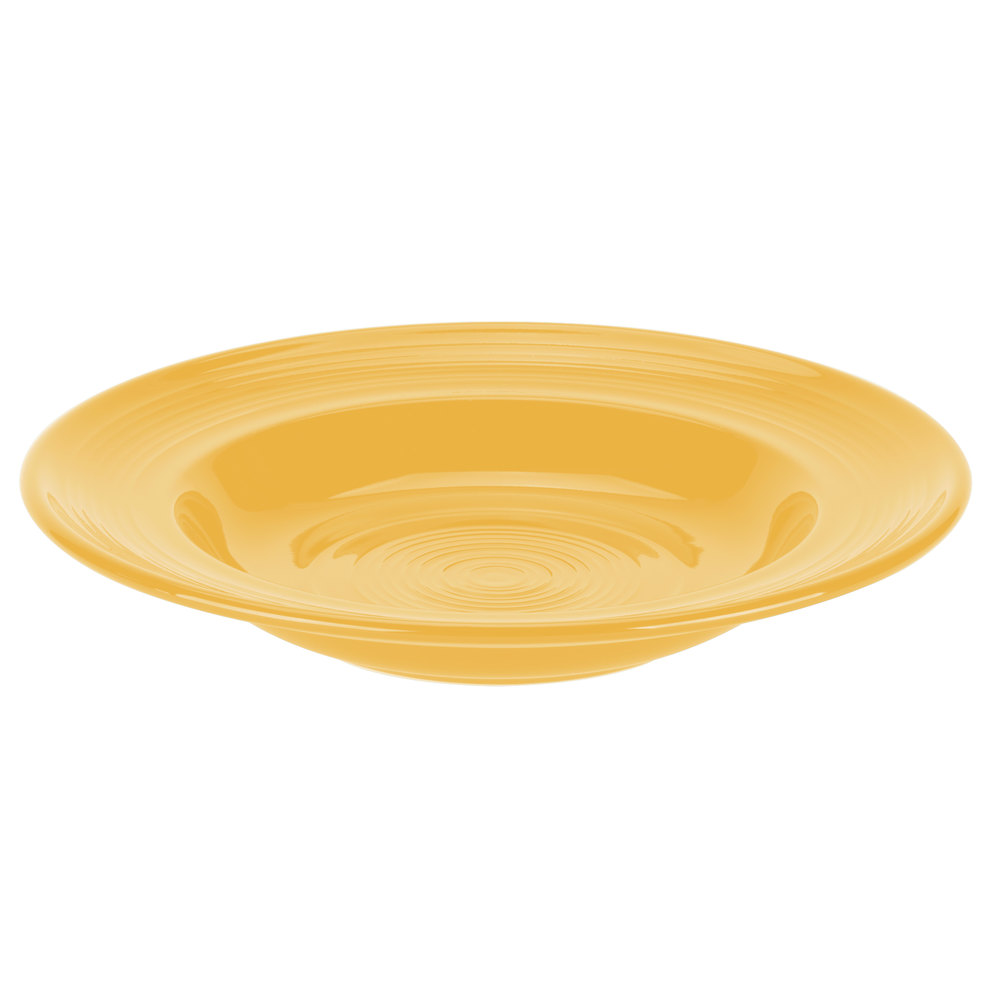 Tuxton CSD-120 Concentrix 23 oz. Saffron China Soup / Pasta Bowl - 6/Case