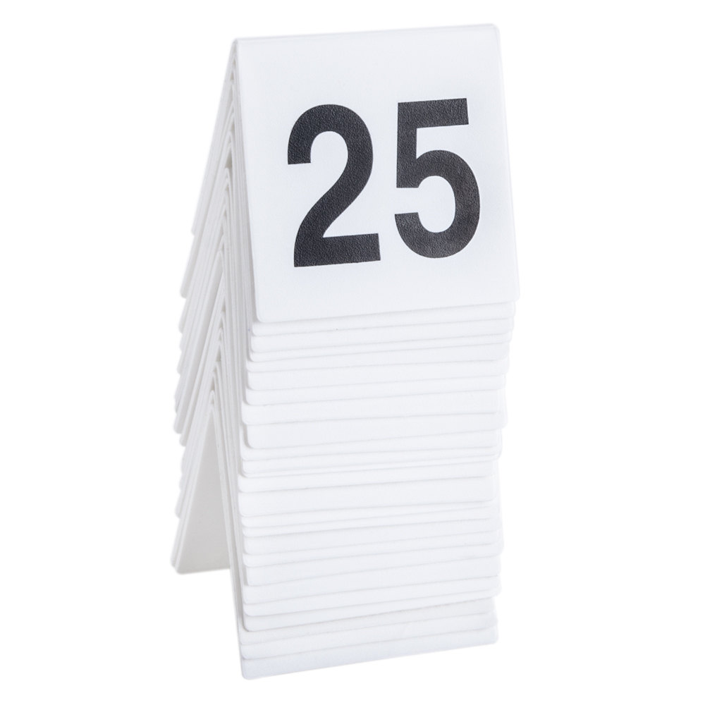 ... Table Tent Number. Main Picture ...  sc 1 st  WebstaurantStore & GET NUM-1-25 Numbers 1 Through 25 Table Tent Number