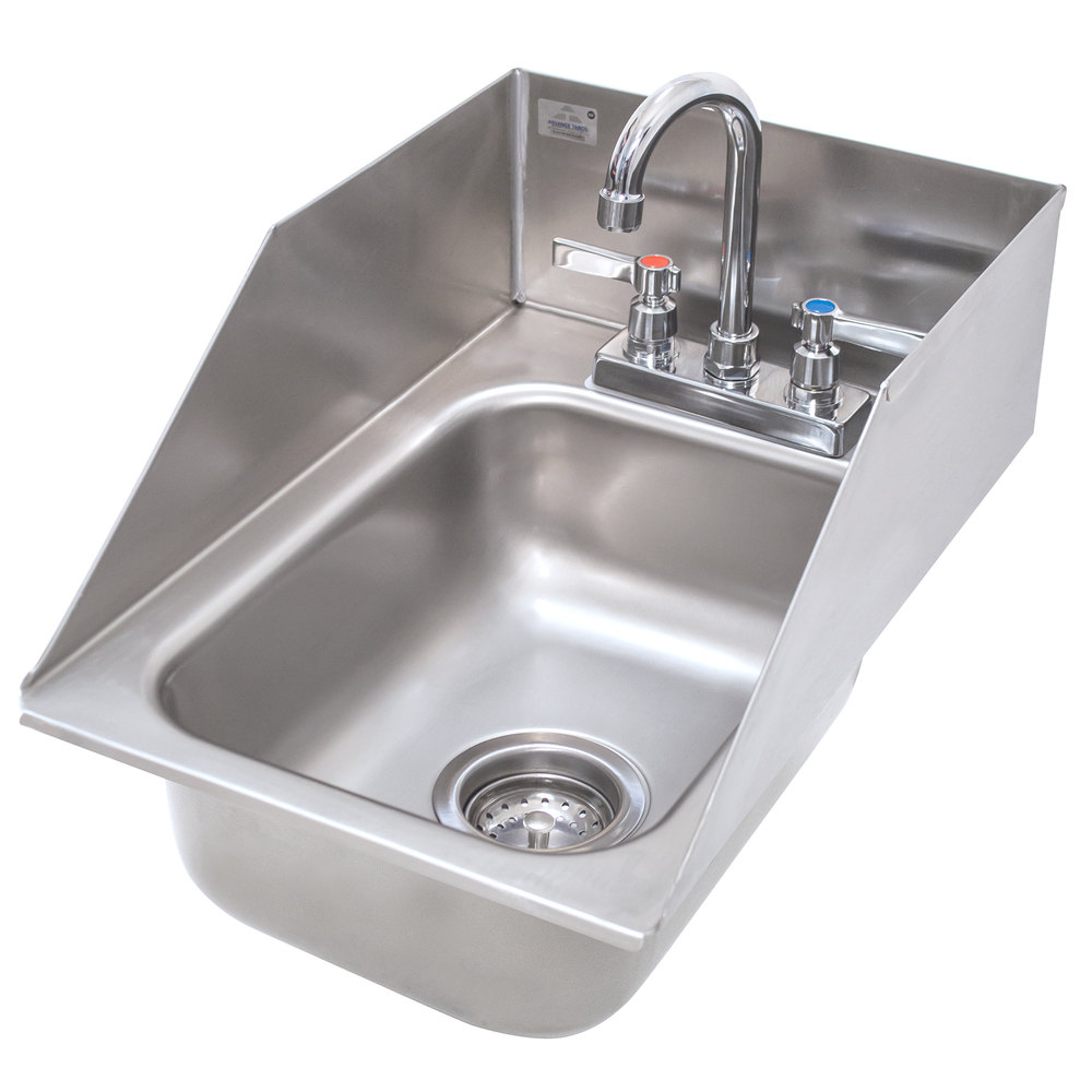 Drop In Stainless Steel Sink : Advance Tabco DI-1-10SP Drop In Stainless Steel Sink with 6