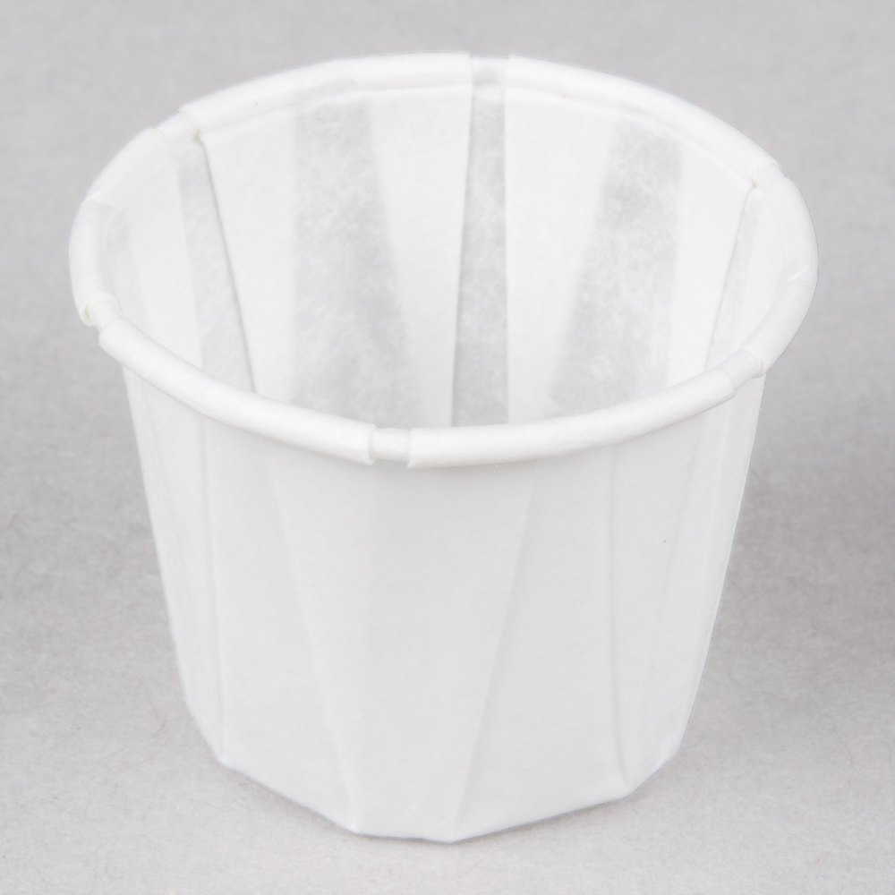 Genpak F075 .75 oz. Harvest Paper Souffle / Portion Cup 5000 / Case