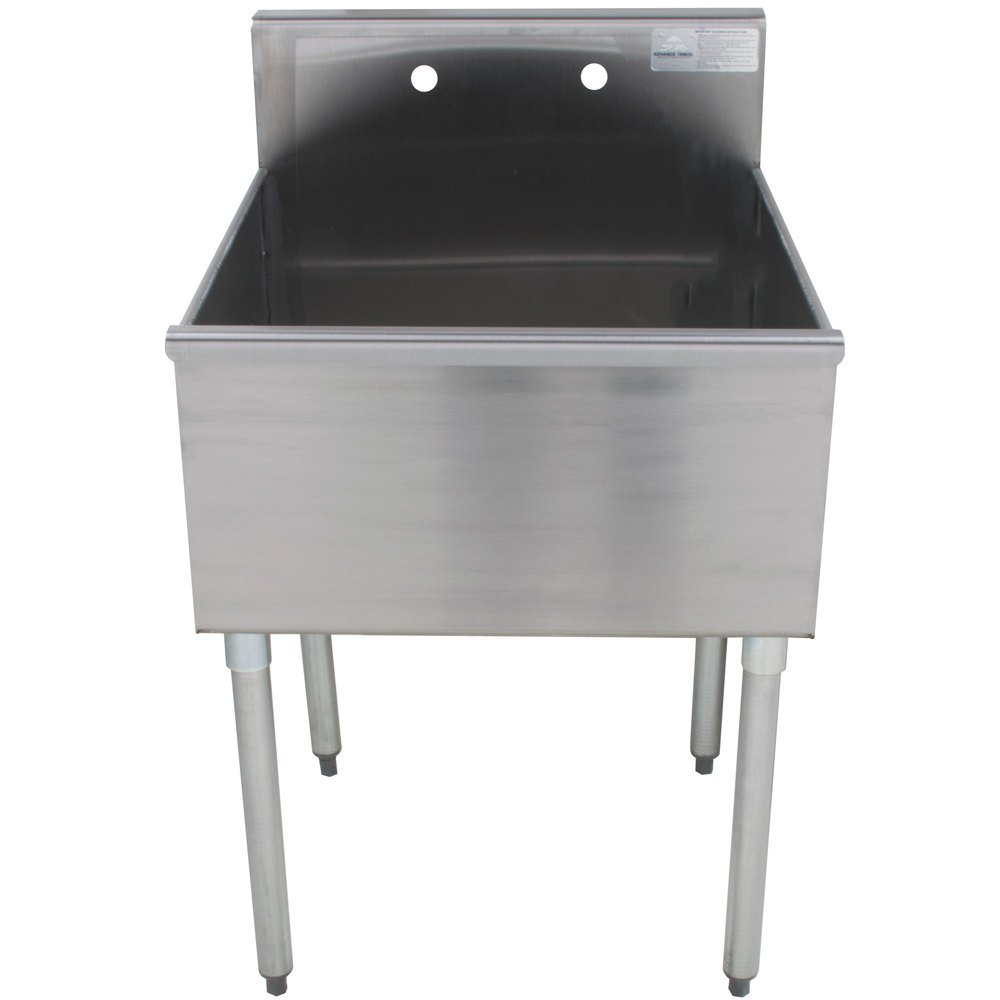 Advance Tabco 4 41 24 One Compartment Stainless Steel Commercial Sink 24 Quot