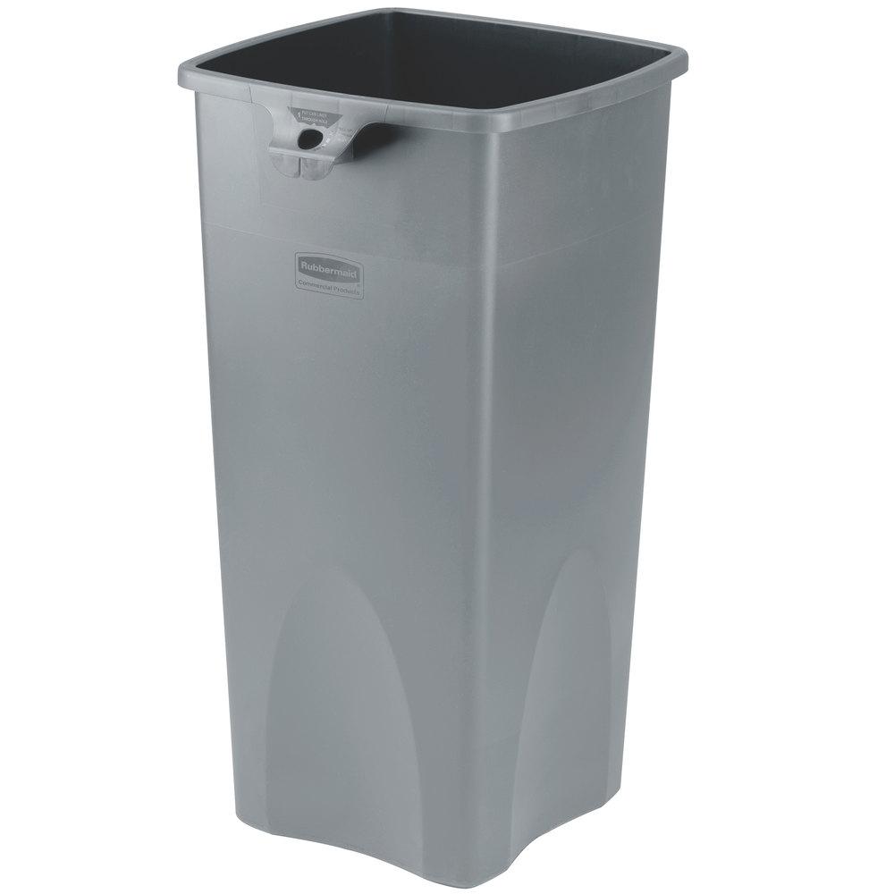 rubbermaid fg356988gray untouchable gray 23 gallon square