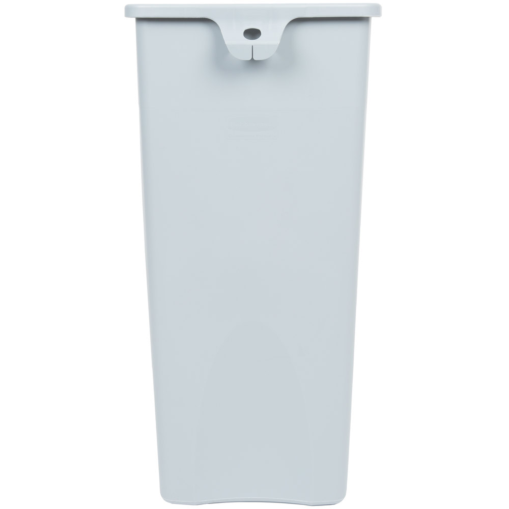 Rubbermaid Fg356988gray Untouchable Gray 23 Gallon Square