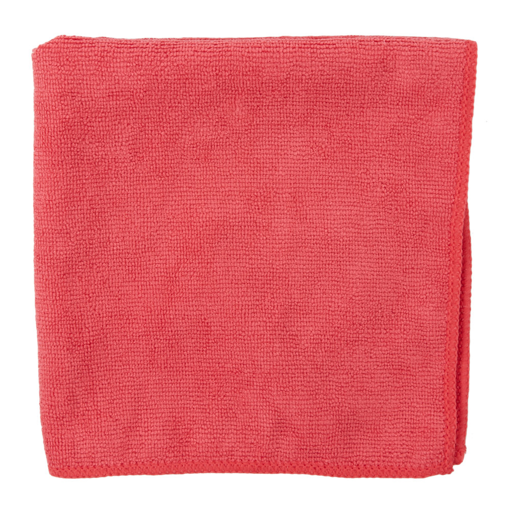 """Microfiber Cloth Guide: Carlisle 3633405 16"""" X 16"""" Red Terry Microfiber Cleaning Cloth"""