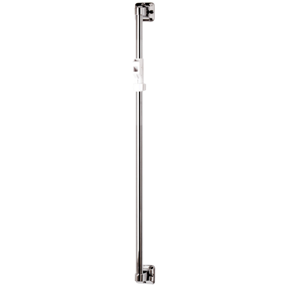 "T&S B-0940 Shower Queen 32"" Vertical Grab Bar with Sliding Spray Bracket"