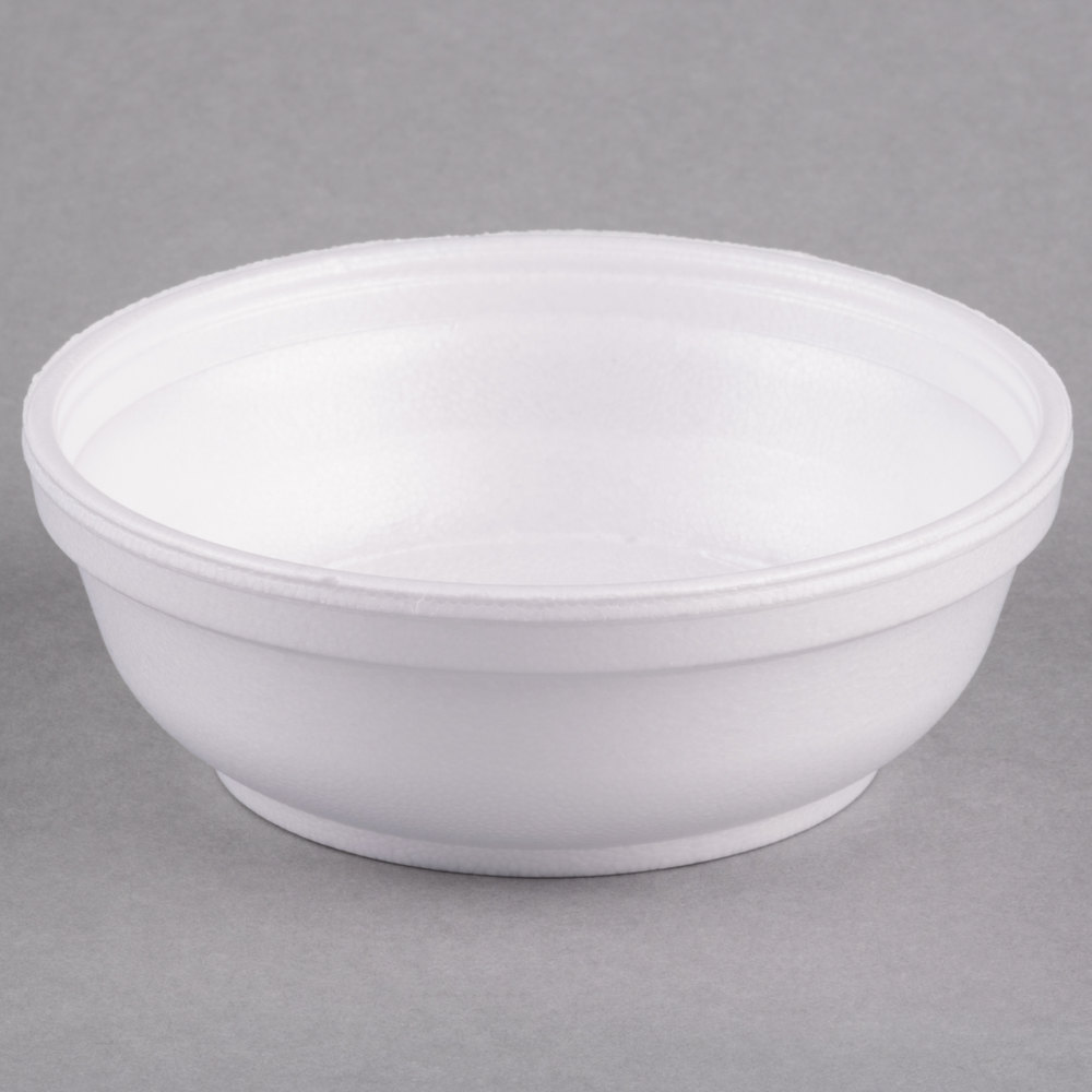 Dart 6b20 6 Oz Insulated White Foam Bowl 1000 Case