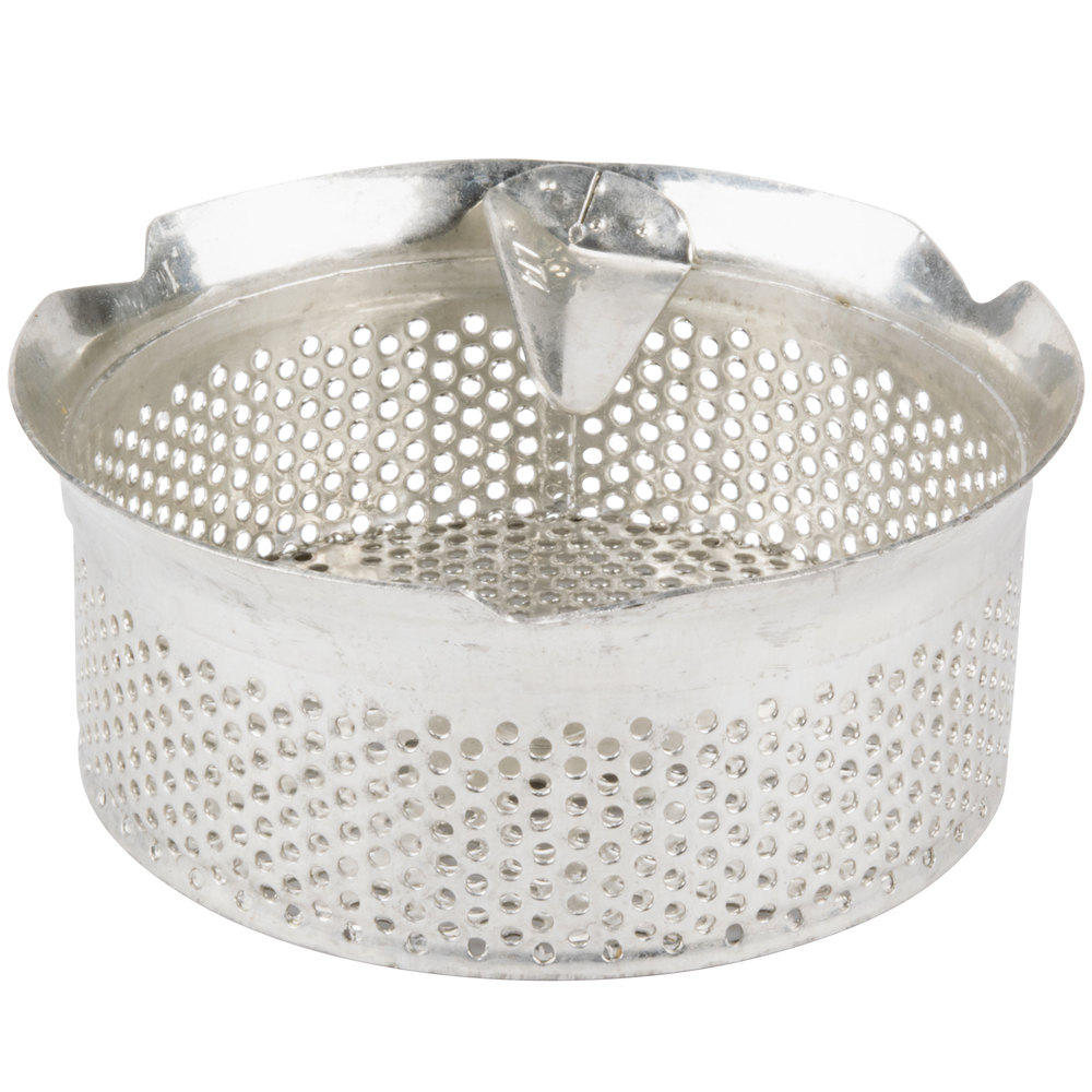 "Tellier M5040 5/32"" Perforated Replacement Sieve for # 5 Food Mill - Tin-Plated Steel"
