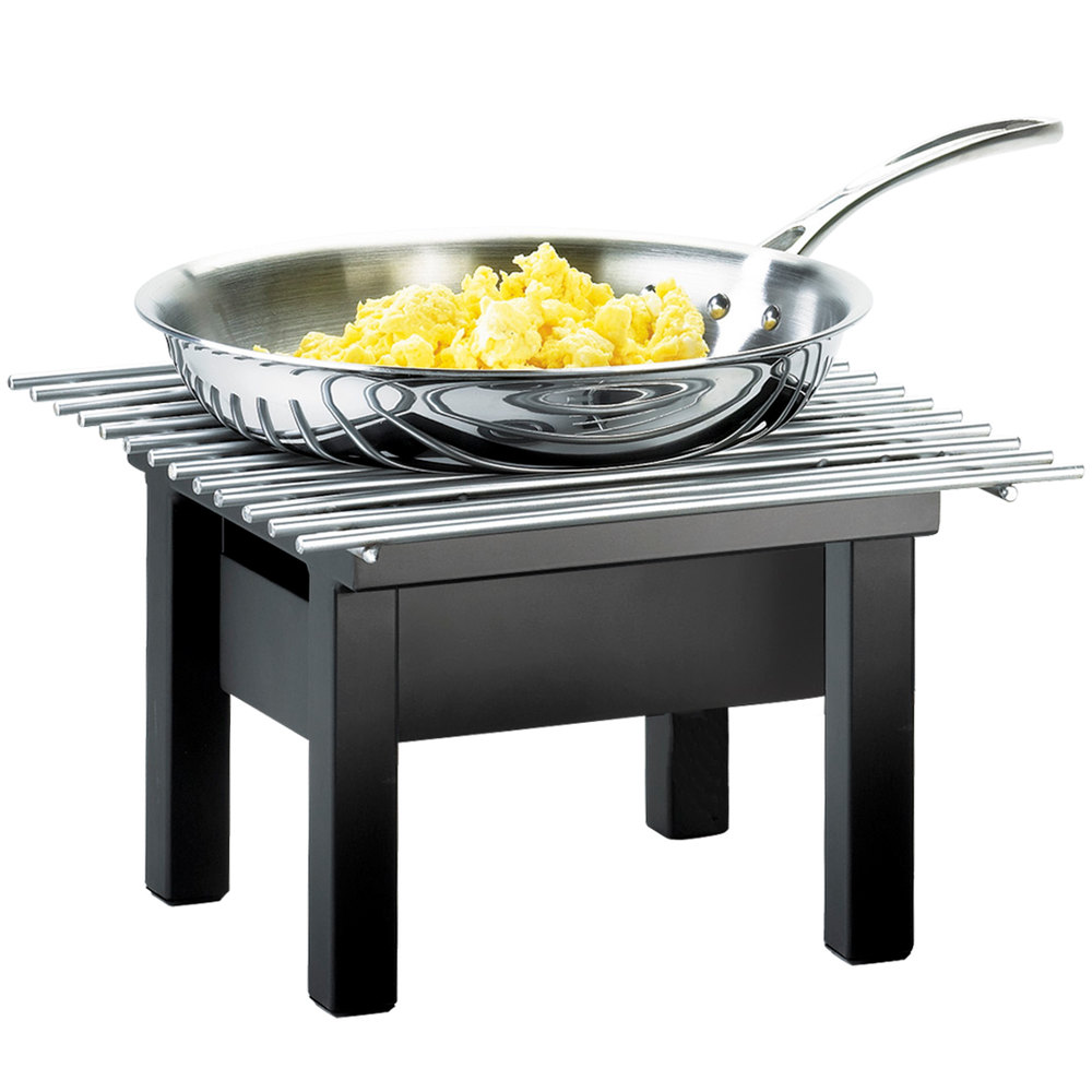 "Cal-Mil 1409-12-13 One by One Black Chafer Griddle - 12"" x 12"" x 7"""
