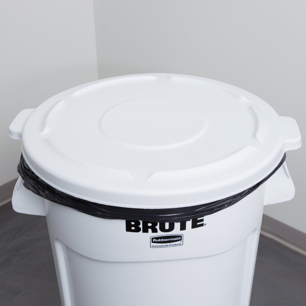 Rubbermaid FG264560WHT BRUTE 44 Gallon White Trash Can Lid