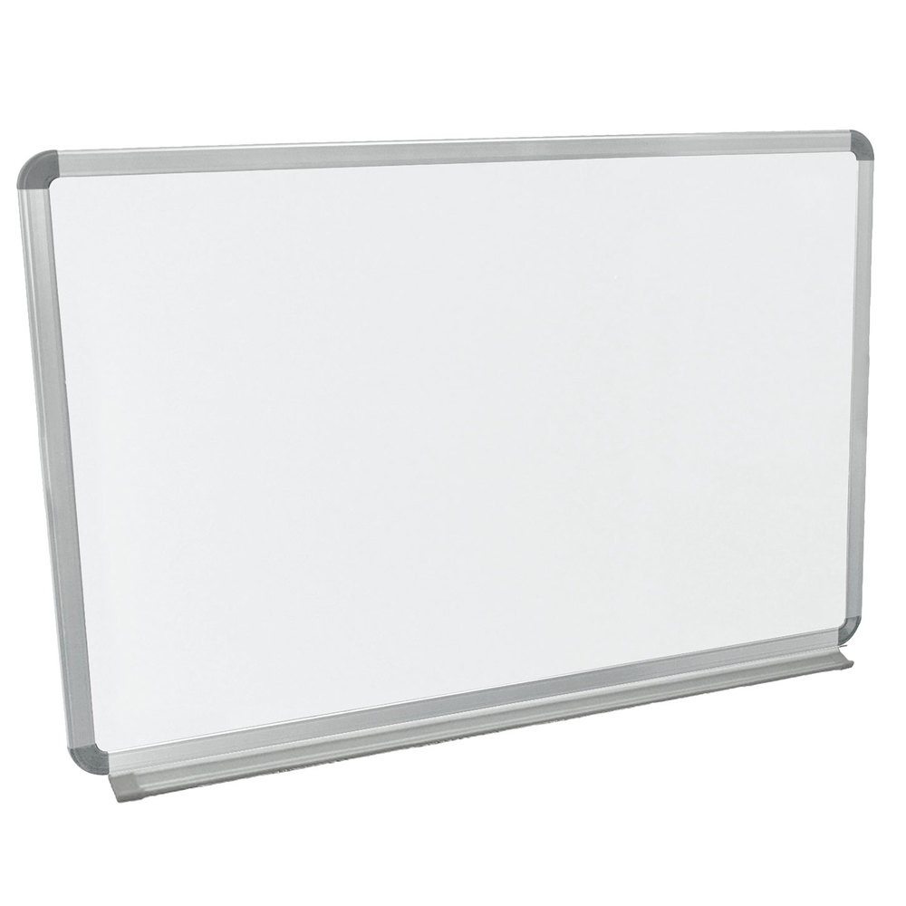 "Luxor / H. Wilson WB3624W 36"" x 24"" Wall-Mounted Whiteboard with Aluminum Frame"