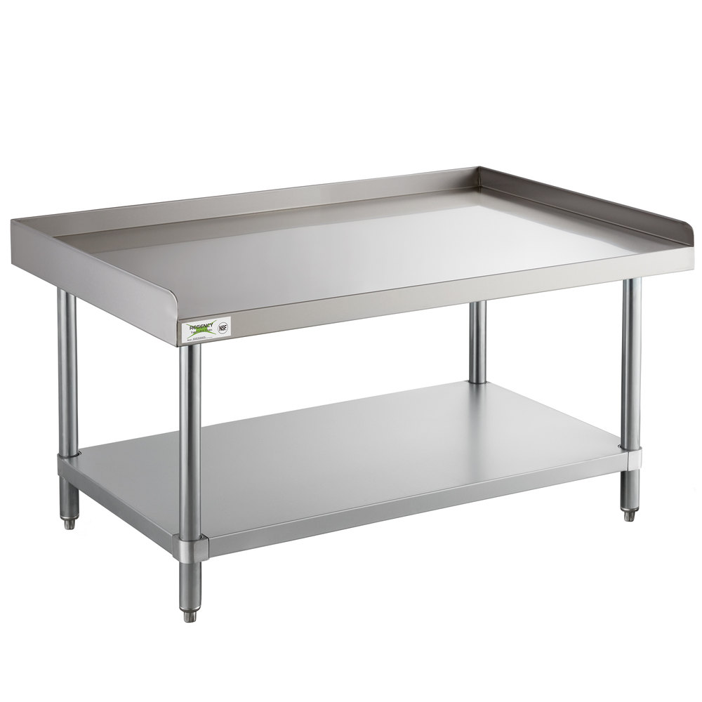 Regency 30 inch x 36 inch 16-Gauge Stainless Steel Equipment Stand with Undershelf