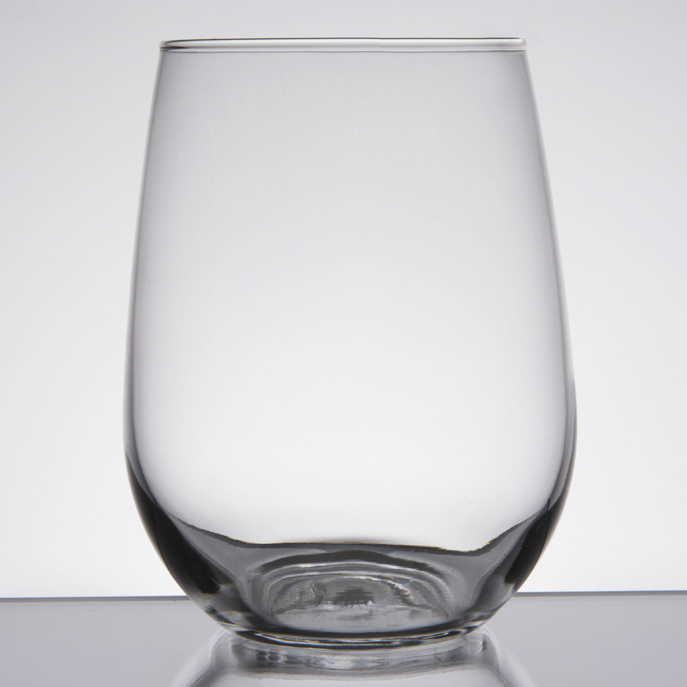 libbey 221 17 oz  stemless white wine glass  case