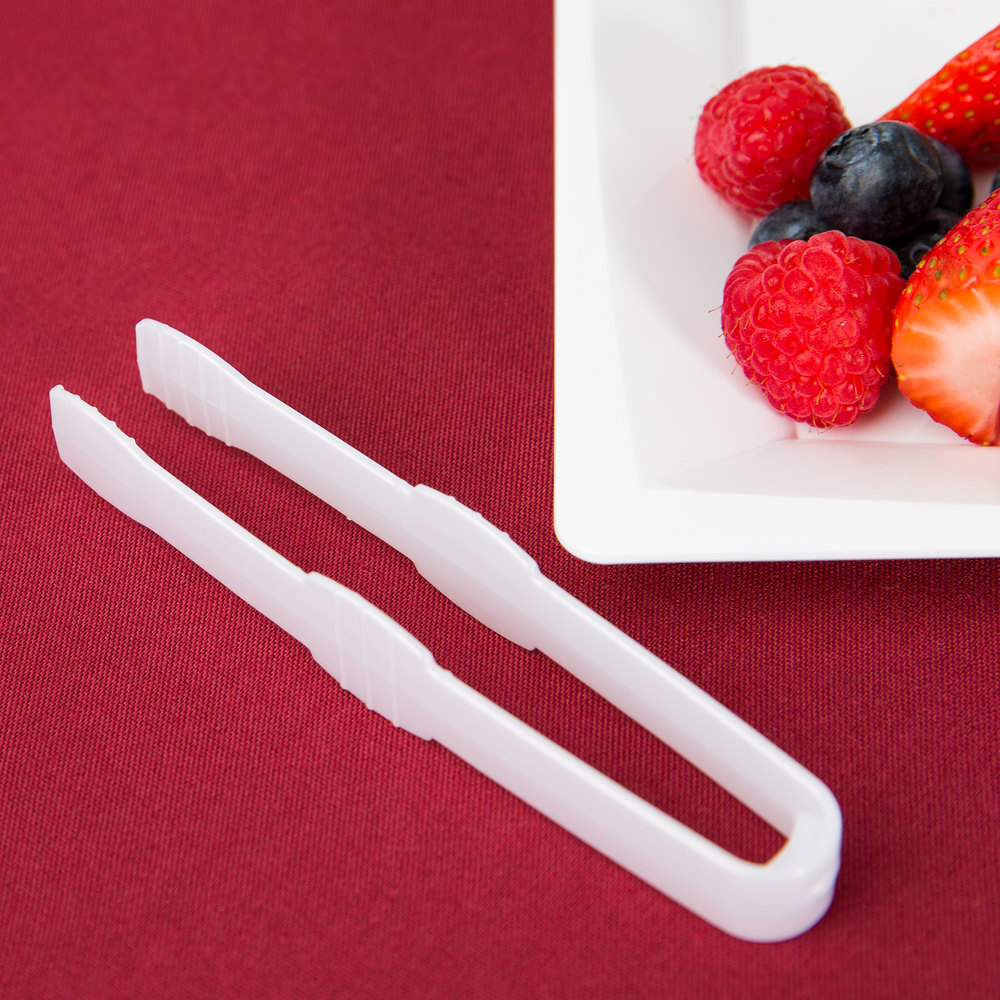 Fineline 6503-WH Tiny Temptations Tiny Tongs 4 1/2