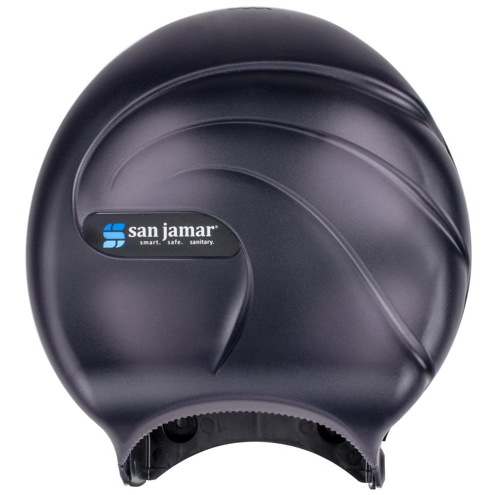 San Jamar R2090tbk Oceans 9 Quot Single Roll Jumbo Toilet