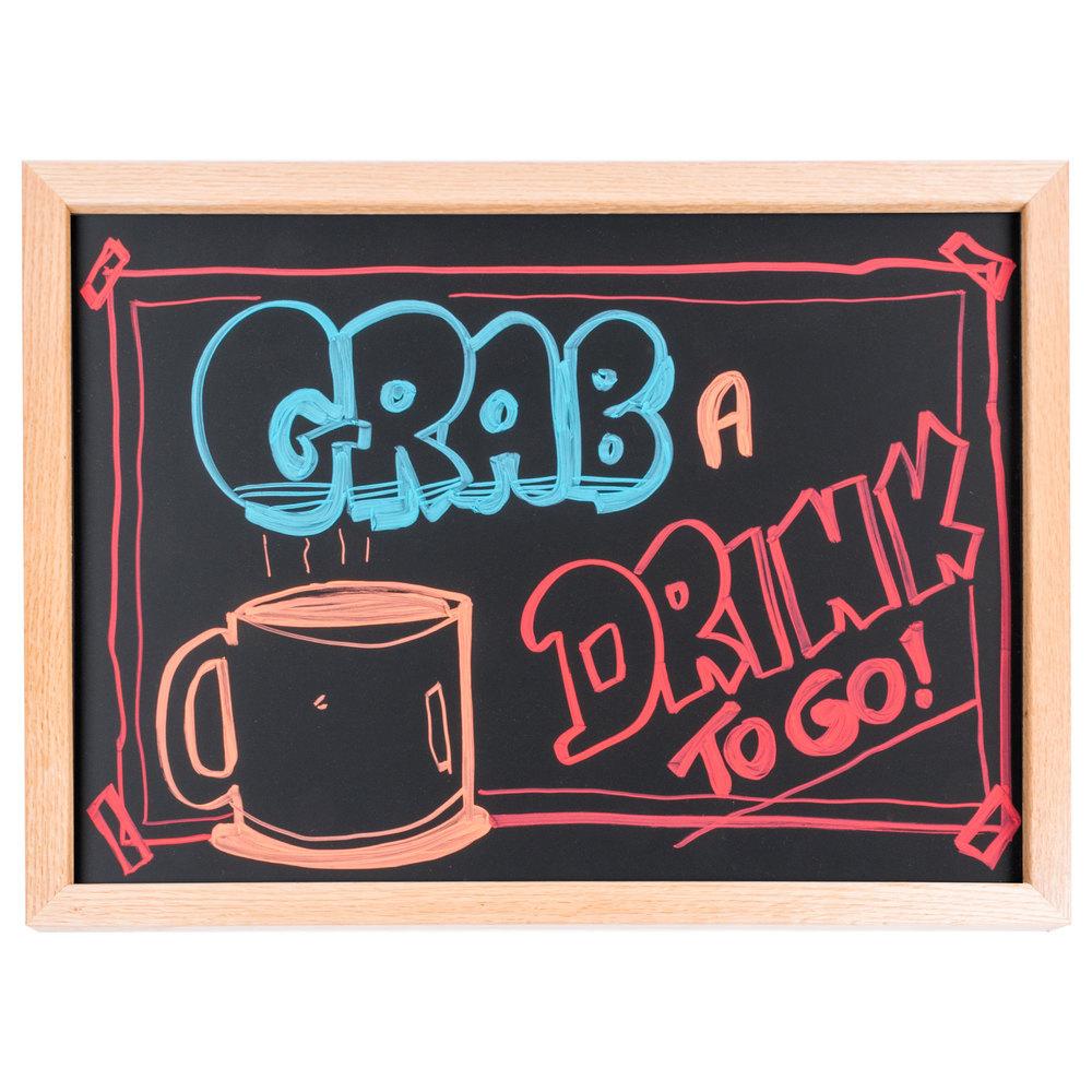18 u0026quot  x 24 u0026quot  oak frame black chalk board