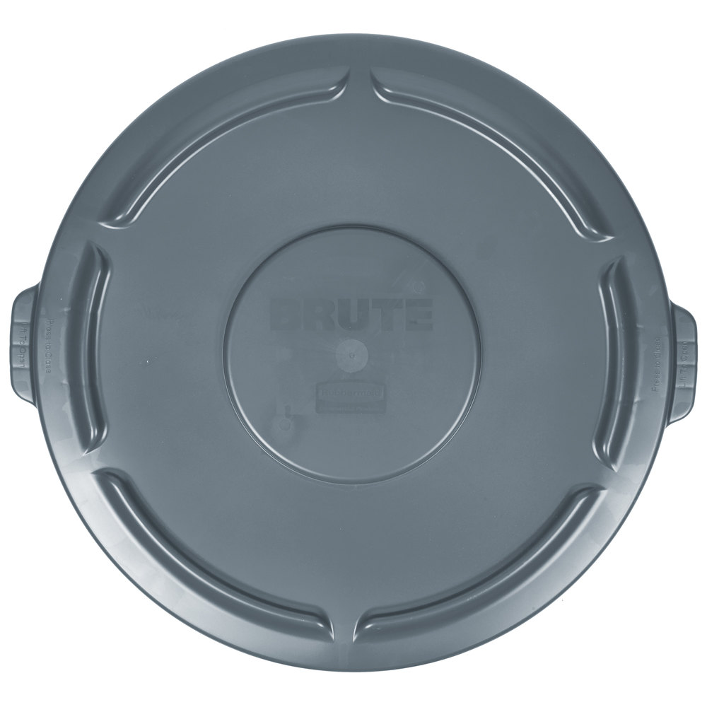 rubbermaid brute gray 55 gallon trash can lid main picture - Brute Trash Can